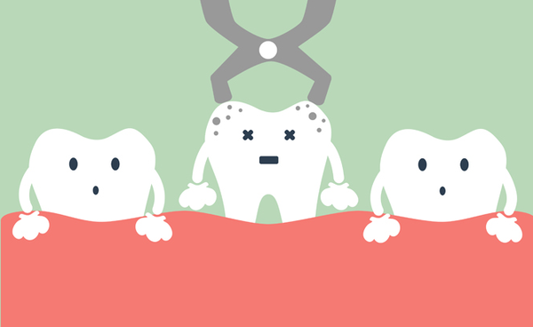 рисунок - три зуба