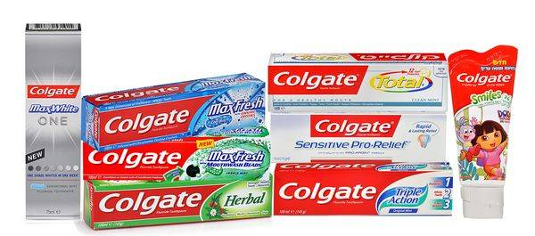 Линейка зубных паст Colgate