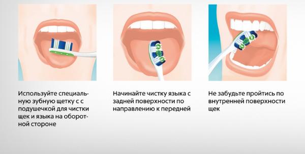 как очистить язык
